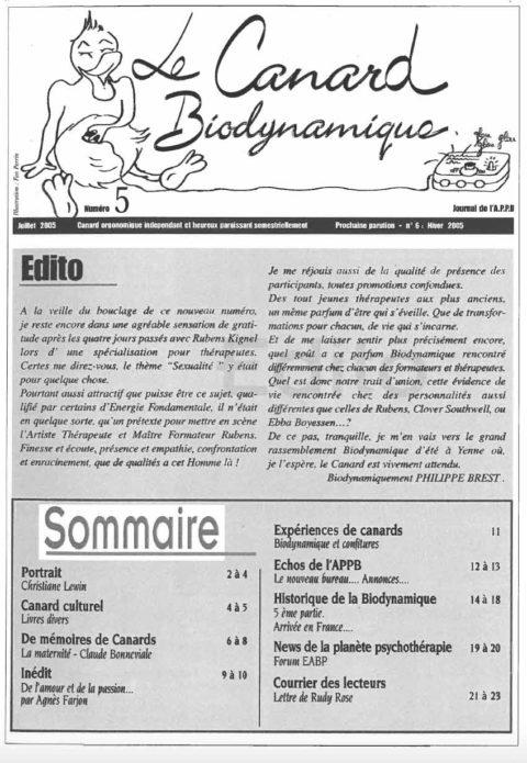Canard N°5 Juillet 05